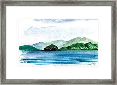Sapphire Bay Framed Print