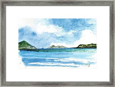 Sapphire Bay Towards Tortolla Framed Print