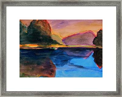 Sapphire Blue Water Framed Print by John Williams