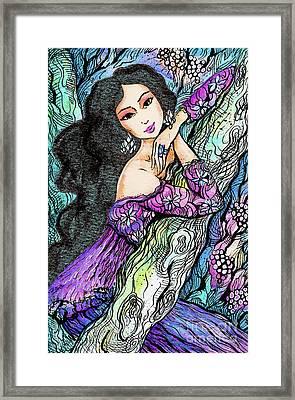 Sapphire Forest Framed Print
