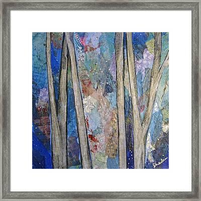 Sapphire Forest I Framed Print