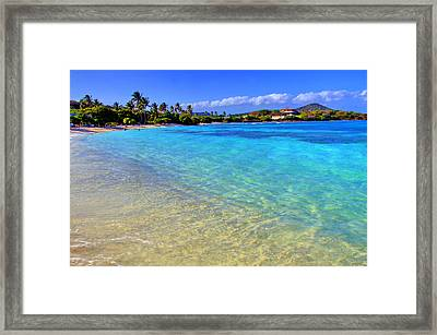 Sapphire Glow Framed Print by Scott Mahon