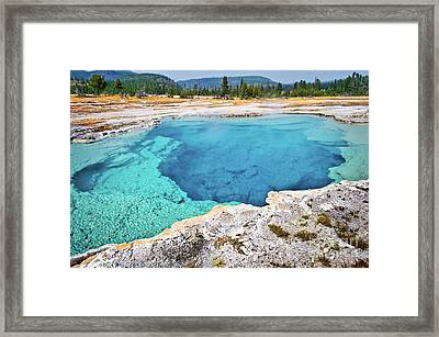 Sapphire Pool, Biscuit Basin Framed Print