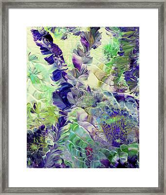 Sapphire Violet Framed Print