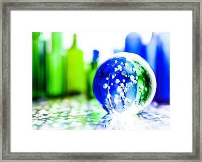 Sapphires And Emeralds I Framed Print by Jon Woodhams