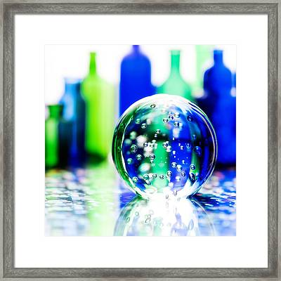 Sapphires And Emeralds IIi - Square Framed Print by Jon Woodhams