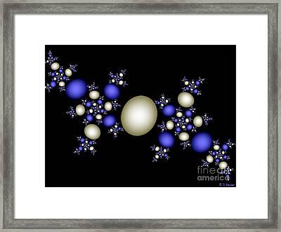 Sapphires And Pearls Framed Print by Sandra Bauser Digital Art