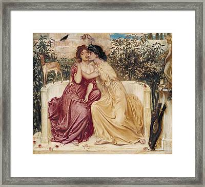 Sappho And Erinna In A Garden  Framed Print by MotionAge Designs