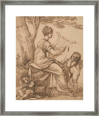 Sappho Framed Print by Maria Cosway