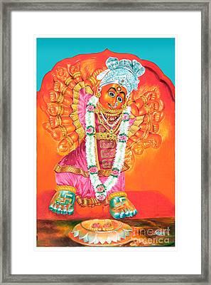 Saptashrungi Devi Nasik Maharashtra Framed Print