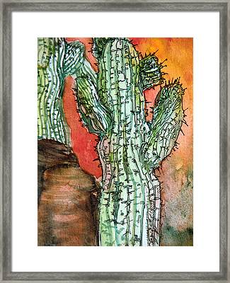 Saquaros Framed Print