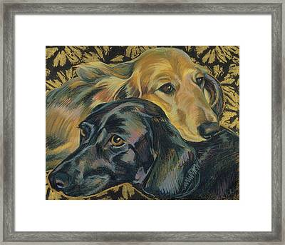 Sarah And Maisy Framed Print by Jane Oriel