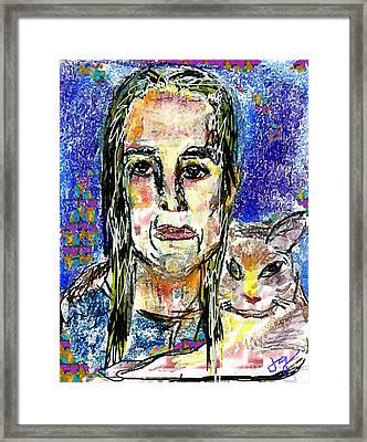 Sarah And Shai Framed Print by Joyce Goldin