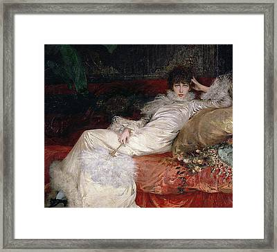 Sarah Bernhardt Framed Print by Georges Clairin
