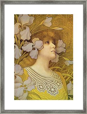 Sarah Bernhardt Framed Print by Paul Berthon