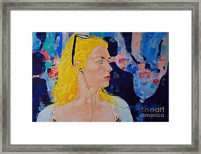 Sarah Dont Turn Away  Framed Print
