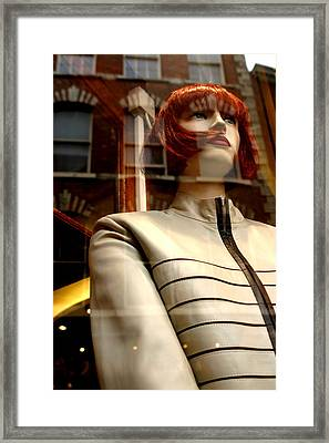 Sarah Dressed For The Kill Framed Print by Jez C Self