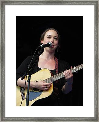 Sarah Jarosz 01 Framed Print by Julie Turner