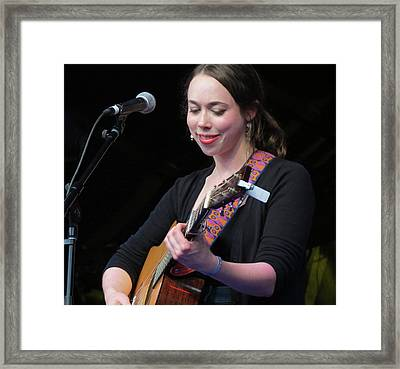 Sarah Jarosz 02 Framed Print by Julie Turner