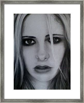 Sarah Michelle Framed Print by Brendan SMITH