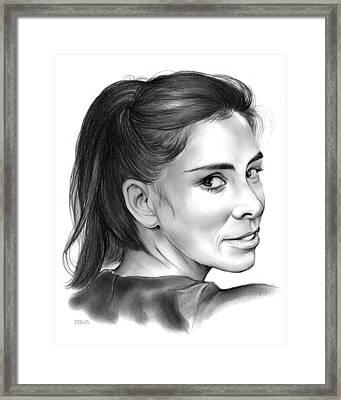 Sarah Silverman Framed Print by Greg Joens