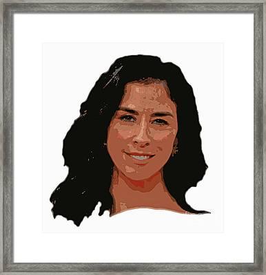 Sarah Silverman Framed Print by Pd