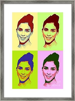 Sarah Silverman Pop Art Framed Print by Pd