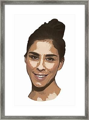 Sarah Silverman Portrait Framed Print by Pd