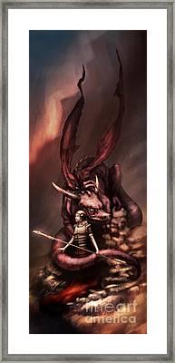 Sarah's Dragon Framed Print by Ethan Harris