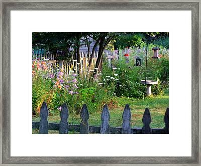 Sara's Back Yard Framed Print