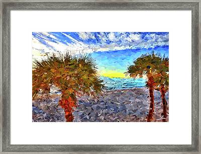 Framed Print featuring the photograph Sarasota Beach Florida by Joan Reese