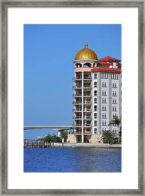 Framed Print featuring the photograph Sarasota Life 02 by John Knapko