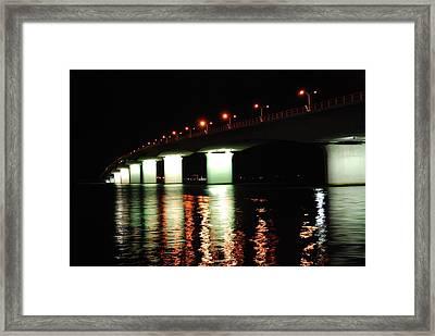 Sarasota Longboat Key Bridge Framed Print by Amanda Vouglas