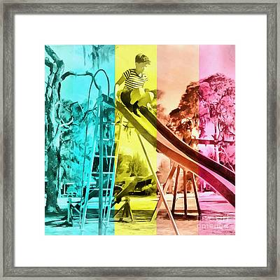 Framed Print featuring the painting Sarasota Series Trailer Park Playground by Edward Fielding