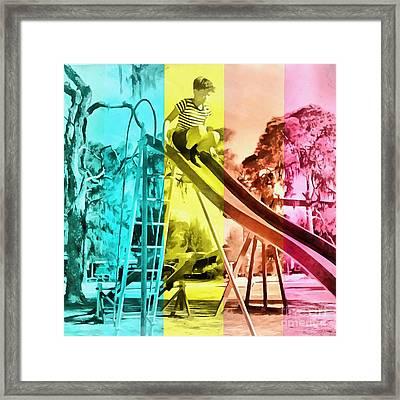 Sarasota Series Trailer Park Playground Framed Print