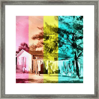 Framed Print featuring the painting Sarasota Series Wash Day by Edward Fielding