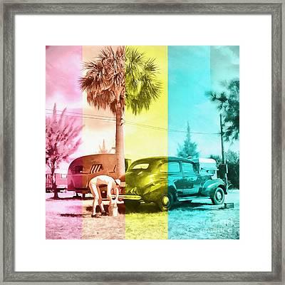 Sarasota Series Wash The Car Framed Print