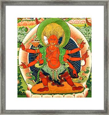 Saraswati 7 Framed Print by Lanjee Chee