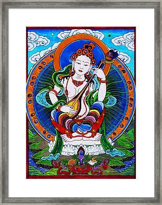 Saraswati 9 Framed Print by Lanjee Chee