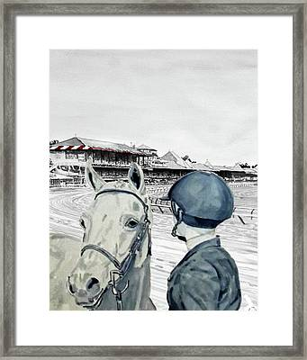 Saratoga Horse Show Framed Print by Parker JC
