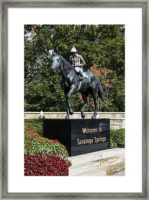 Saratoga Springs Framed Print