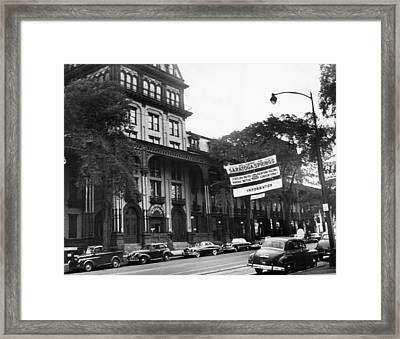 Saratoga Springs, New York, Circa 1950s Framed Print