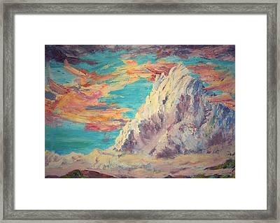 Sarcantay Mountain The Untamed One Cusco Peru Framed Print by Anastasia Savage Ealy