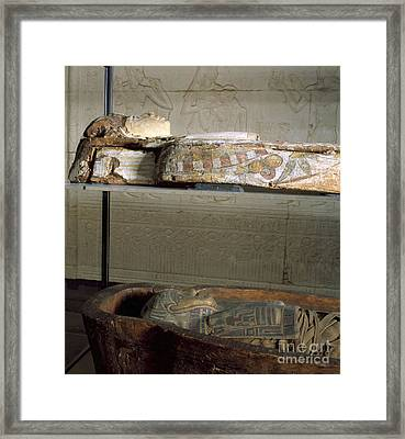 Sarcophagus With Egyptian Mummy, 323 Framed Print by Wellcome Images