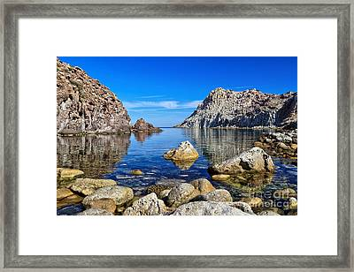 Sardinia - Calafico Bay  Framed Print