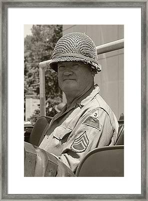 Sarge - Ww2 Reenactment - Fort Knox Ky Framed Print