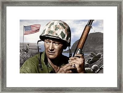 Sargent Stryker U S M C  Iwo Jima Framed Print by Daniel Hagerman