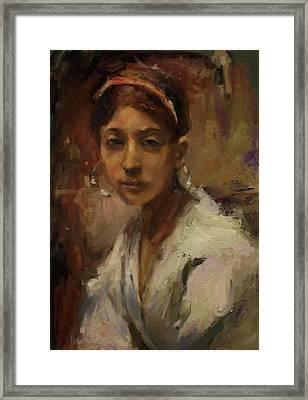 Sargent Study Number 1 Capri Girl Framed Print by Brian Kardell