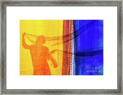 Sari Girl Framed Print by Tim Gainey
