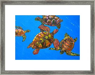 Sarrah's Sea Turtles Framed Print by Patti Schermerhorn